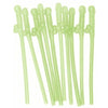 Party Favors Dicky Sipping Straws 10 Piece Glow In The Dark