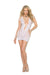 Elegant Moments Crotchet Mini Dress with Cut Out Detailing White One Size