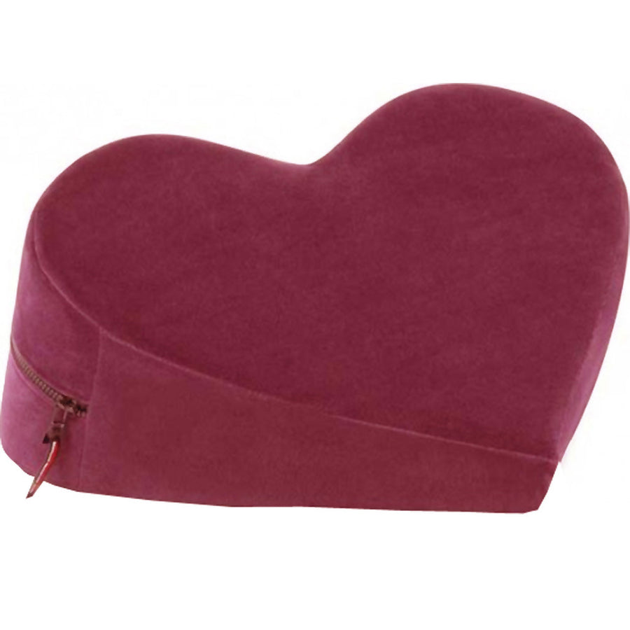 Liberator Heart Shaped Wedge Sex Position Pillow Merlot Red Velvish