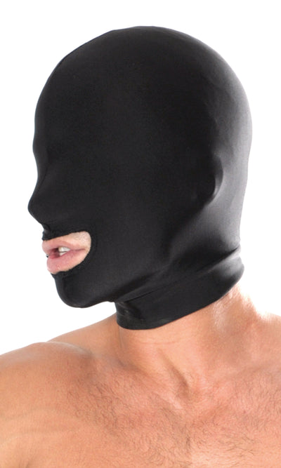 Pipedream Fetish Fantasy Series Spandex Open Mouth Hood Black