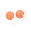 Seven Creations Duo Ben Wa Kegel Super Soft Orgasmus Balls for Beginners Coral Orange