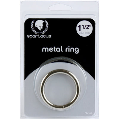 Spartacus Metal Cock Ring 1.5 inch Nickel Plated Silver
