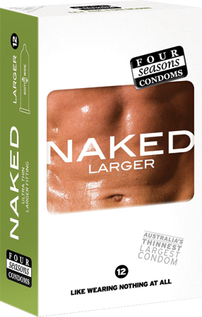Four Seasons Naked Larger Condoms 12 Pack