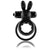 Screaming O Ohare Double  Battery Powered Vibrating Rabbit Cock Ring Black