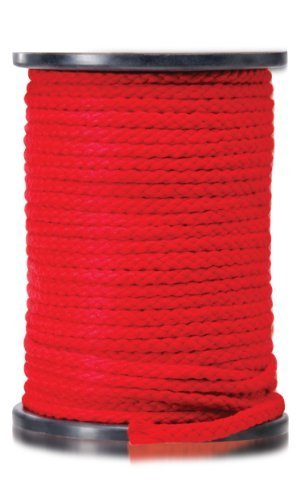 Pipedream Fetish Fantasy Japanese Silk Soft Bondage Rope 200 Feet Long (60.96 metres) Red