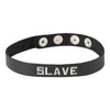 Spartacus Leather Slave Wordband Collar Black