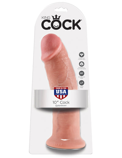 King Cock Thick Realistic Dildo with Suction Cup Mount Base 10 inch