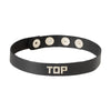 Spartacus Leather TOP Wordband Adjustable Collar Black