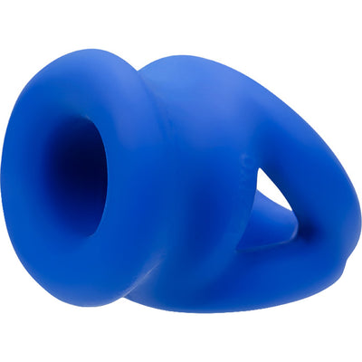 Oxballs Tri Squeeze Silicone Cocksling with Built In Ball Stretcher Cobalt Ice Blue