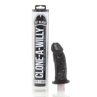 Clone A Willy Realistic Vibrator Silicone Dildo in Home Molding Kit Black