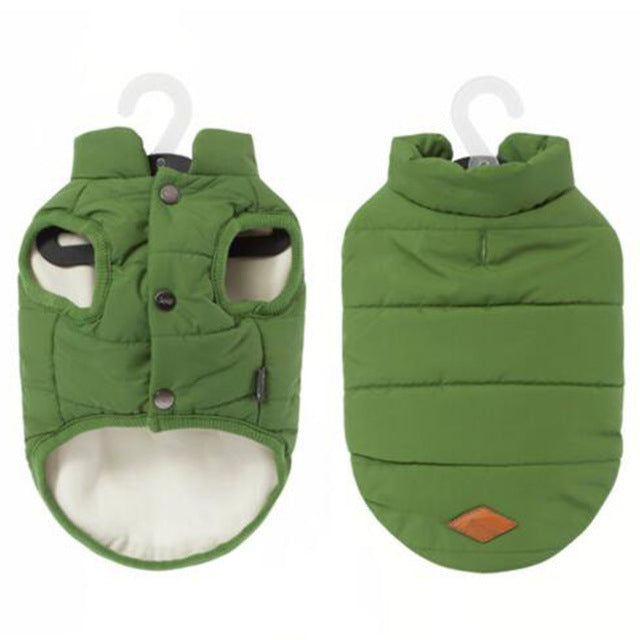 Dog Vest, Solid Puffer