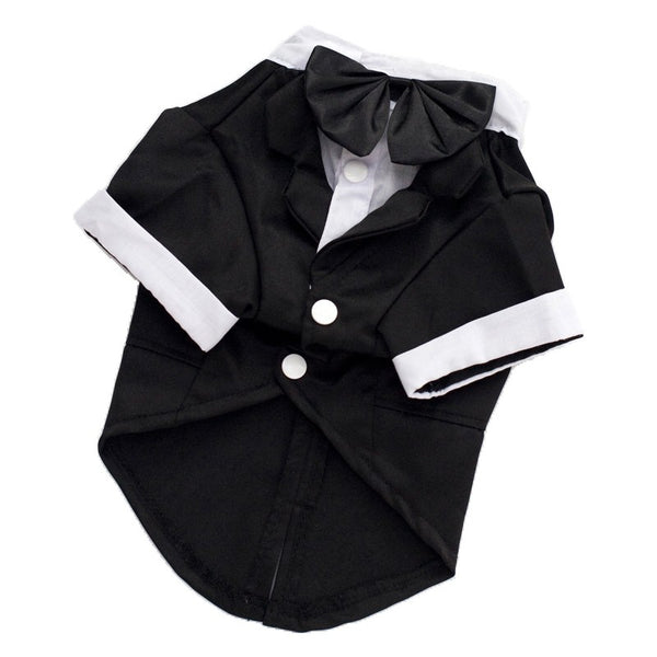 Dog Outfit, Black and White Formal