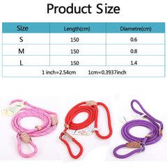 Colorful Dog Leash Lead Rope