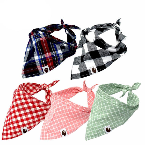Stylish Dog Bandannas, Various Colors - 5 Pack
