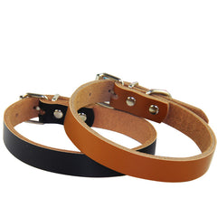 Soft Leather Adjustable Dog Collar