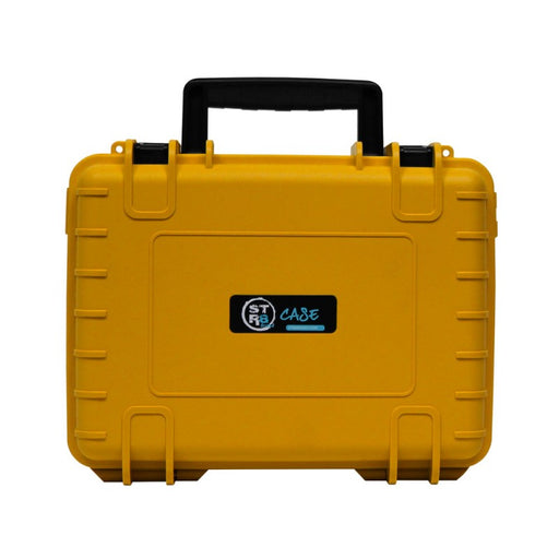 "Canary Yellow STR8 Case 10"" Hard Shell 2-Layer Travel Case with Pre-Cut Form"