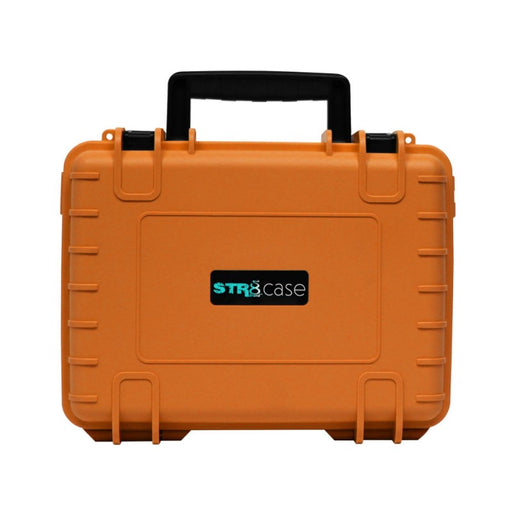 Orange 10 Inch STR8 Case Hard Shell 2-Layer Travel Case with Pre-Cut Foam