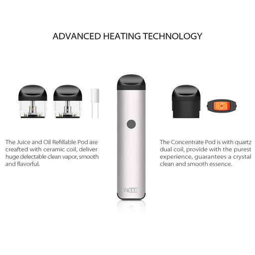 Pod Vaporizer for juice wax concentrates all in one evolve 2.0