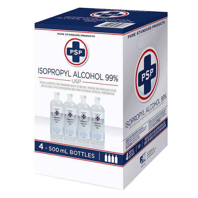 99% Isopropyl Alcohol Box of 4 Bottles