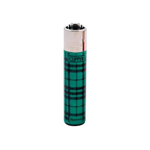 Green Flannel Plaid Fabric Clipper Lighters
