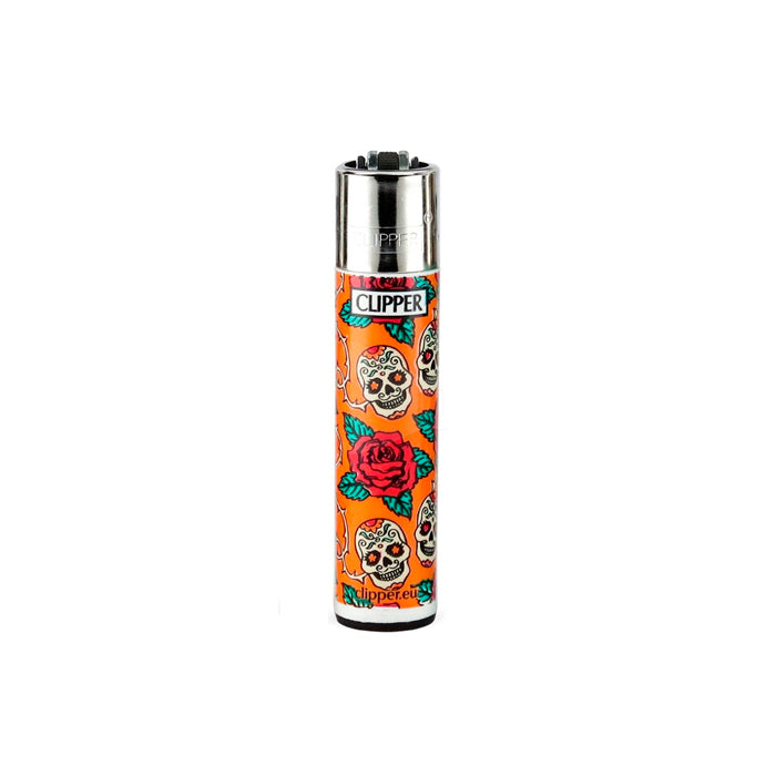 Clipper Lighters with Mexican Sugar Skull Designs