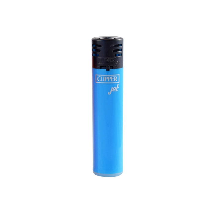 Clipper Jet Flame Shiny Fluorescent Blue Lighter
