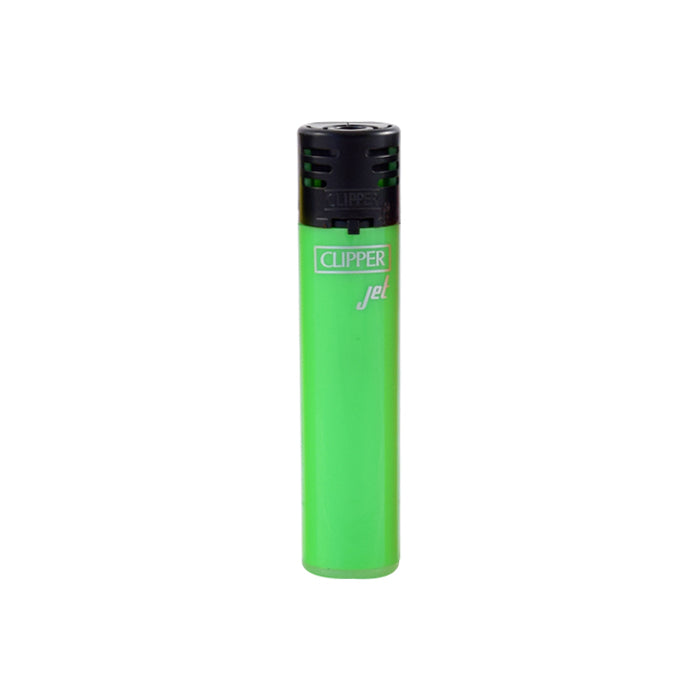 Clipper Jet Flame Shiny Fluorescent Green Lighter
