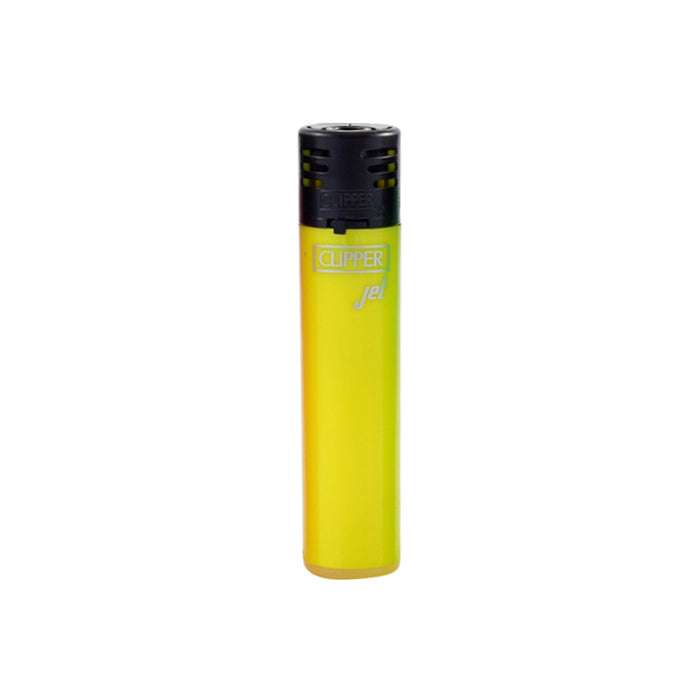 Clipper Jet Flame Shiny Fluorescent Yellow Lighter