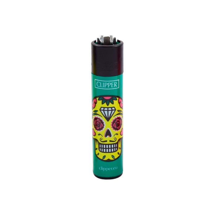 Green Sugar Skull Clipper Lighters Canada