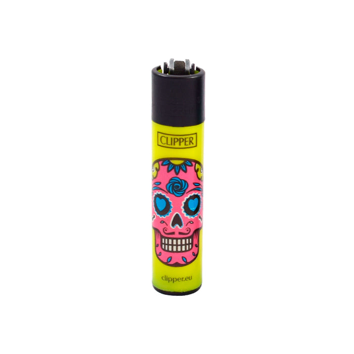Yellow Sugar Skull Clipper Lighters Canada