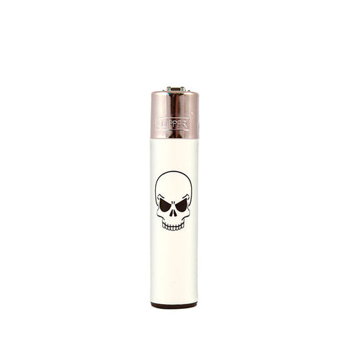 Single Skull White Clipper Lighter Canada
