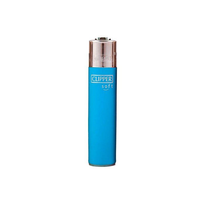 Blue Clipper Soft Touch Solid Color Refillable Lighters
