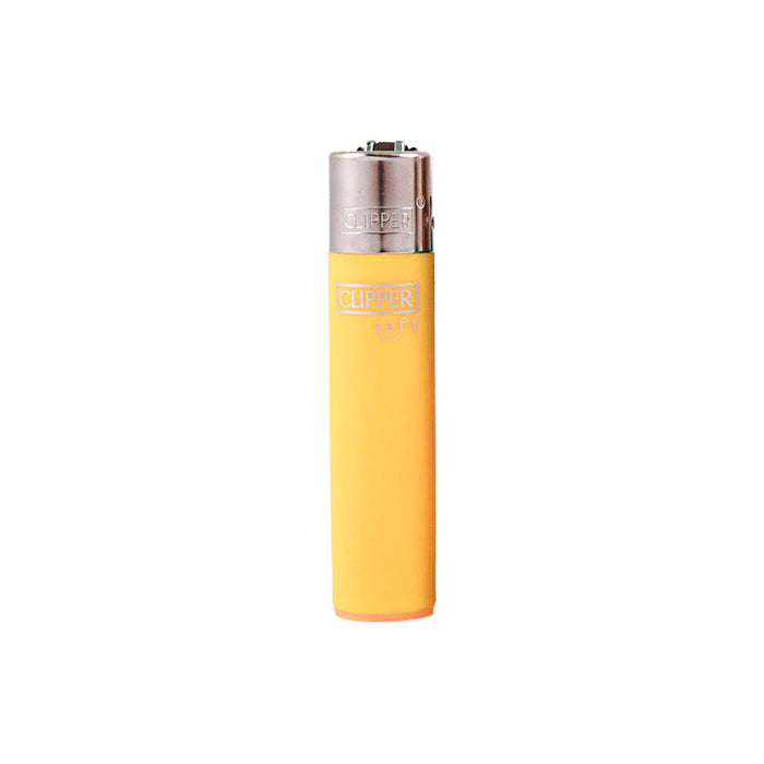 Yellow Clipper Soft Touch Solid Color Refillable Lighters