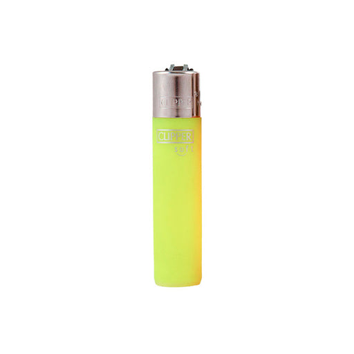 Yellow Clipper Soft Touch Translucent Lighters