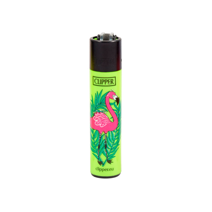 Clipper Lighter with Flamingo Lime Green