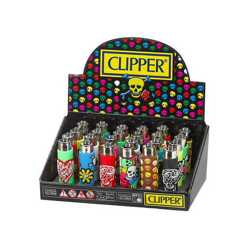 Clipper Pop Skull Silicone Wrapped Lighter