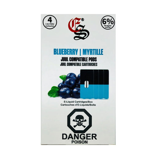 Blueberry Eonsmoke Nic Salt Pods Juul Compatible