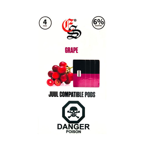 Grape Eonsmoke Nic Salt Pods Juul Compatible