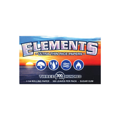 Elements Thin Rice Rolling Papers 300 Pack