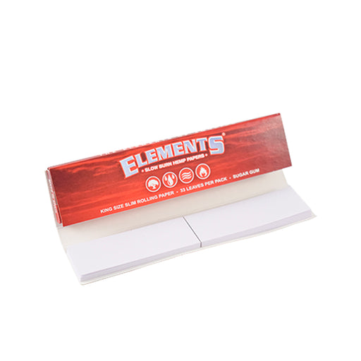 Elements Red Connoisseur Rolling Papers King Size Slim