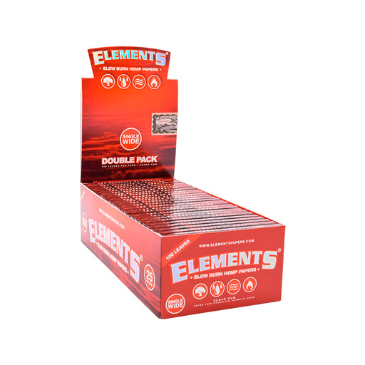 Case of Elements Red Single Wide Rolling Papers