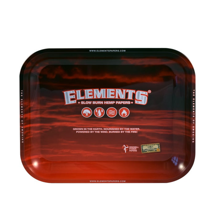 Elements Metal Rolling Tray - Red
