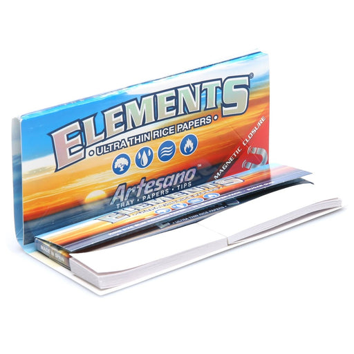 Elements Artesano Rolling Papers with Tips - King Size Slim