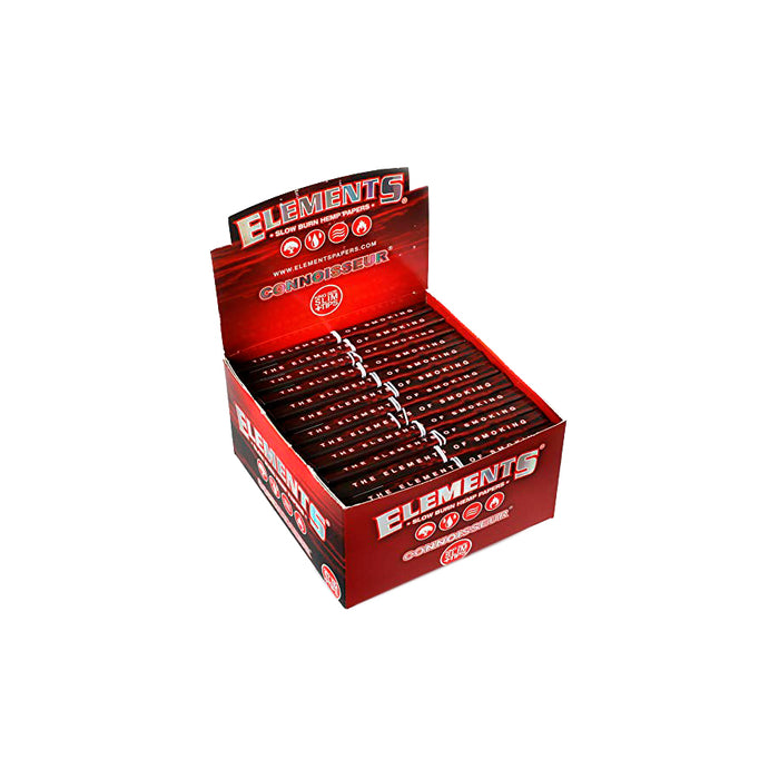 Elements Red Connoisseur King Size Slim Rolling Papers