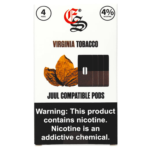 Tobacco Flavoured Nic Salt Pods Juul Compatible