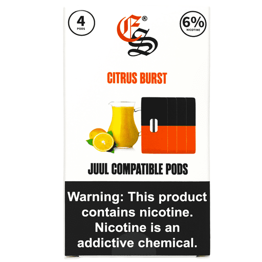 Citrus Burst Nic Salt Pods JUUL