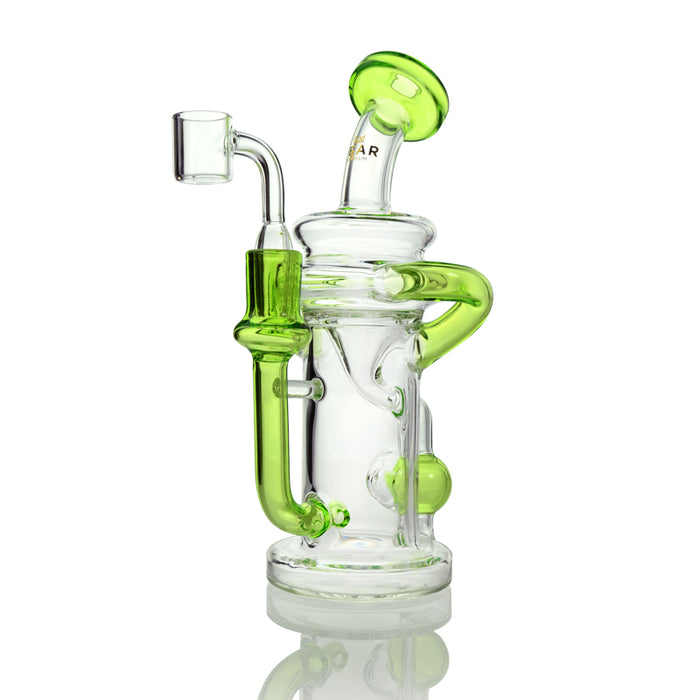 Lime Green Concentrate Recycler with Injection Perc and Quartz Banger
