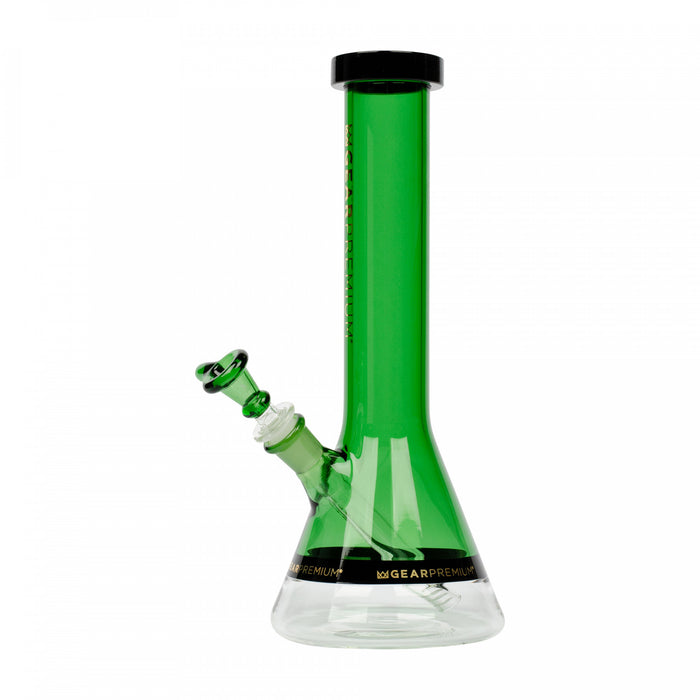 "Gear Premium 12"" Tall Swank Beaker Tube w/ Black Accents Green"