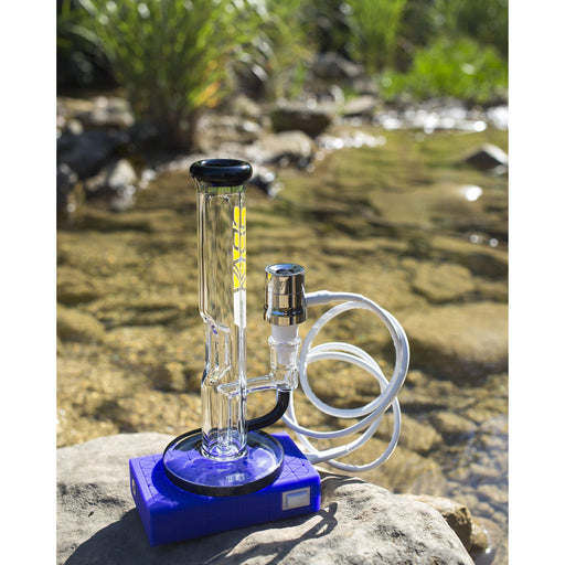 Grav Labs Fire Button E-Nail on Glass Bong Next to River