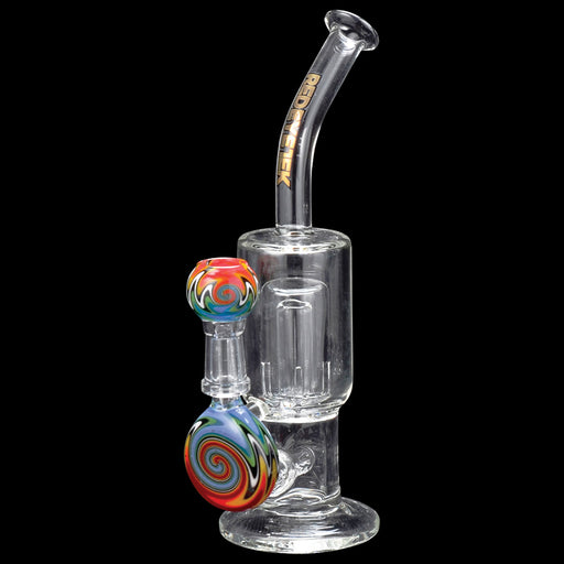 "7"" Tall Multi Colour Gum Drop Concentrate Bubbler Dab Rig Canada Red Eye Tek"